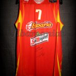 2006 World Cup Champions Spain Juan Carlos Navarro Jersey Front – Signed
