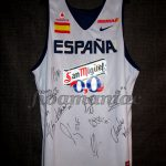 2013 Eurobasket Spain Training Jersey Front - MW and signed by team