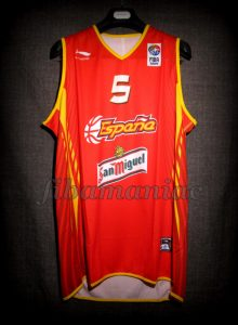 2007 Eurobasket Finalists Spain Rudy Fernández Jersey Front - Signed