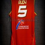 2007 Eurobasket Spain Rudy Fernández Jersey Back - Signed