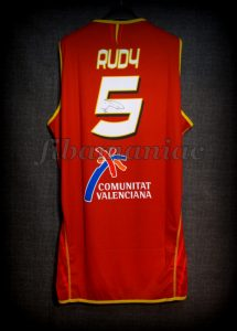 2007 Eurobasket Finalists Spain Rudy Fernández Jersey Back - Signed