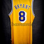 1996/1997 50th NBA Anniversary & Rookie Season Los Angeles Lakers Kobe Bryant Jersey - Back