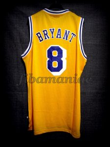 1996/1997 50th NBA Anniversary & Rookie Season Los Angeles Lakers Kobe Bryant Jersey - Back