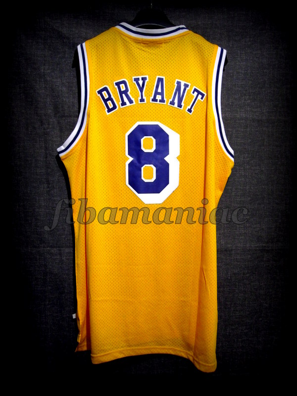 6690cce7d07d 1996 1997 50th NBA Anniversary   Rookie Season Los Angeles Lakers Kobe  Bryant Jersey -