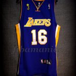 2009 NBA Finals Champions Los Angeles Lakers Pau Gasol Jersey Front - Signed