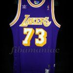1998/1999 Lockout Season Los Angeles Lakers Dennis Rodman Jersey - Front