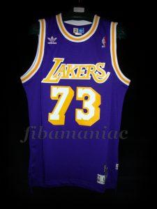 1998/1999 NBA Lockout Season Los Angeles Lakers Dennis Rodman Jersey - Front