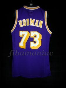1998/1999 NBA Lockout Season Los Angeles Lakers Dennis Rodman Jersey - Back
