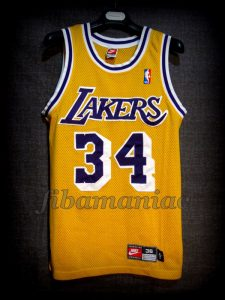 1998 All-NBA First Team Los Angeles Lakers Shaquille O'Neal Jersey - Front