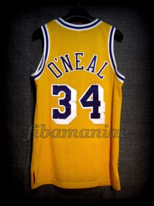 1998 All-NBA First Team Los Angeles Lakers Shaquille O'Neal Jersey - Back