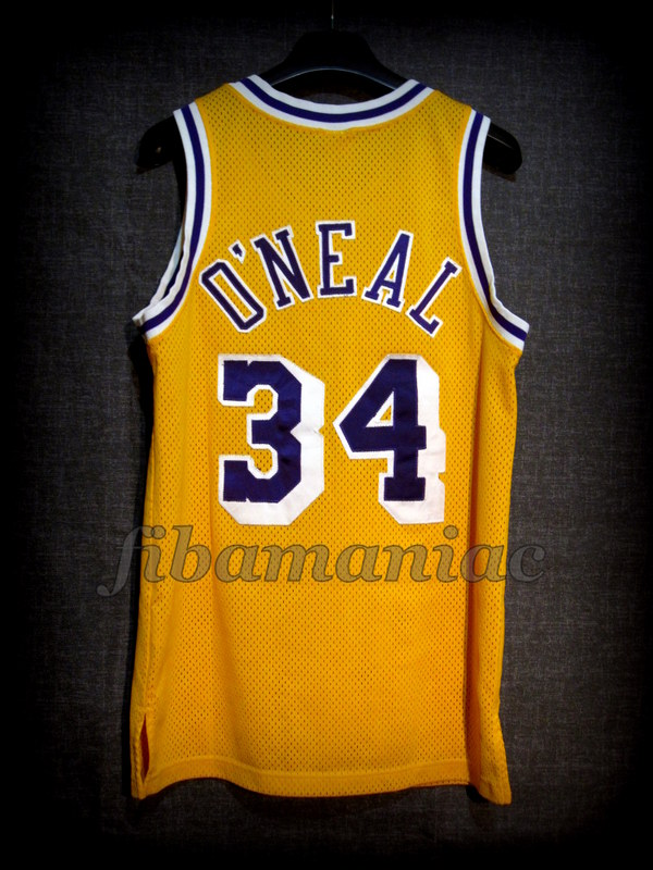 d97315c97cde 1996 1999 Los Angeles Lakers Shaquille O Neal Jersey - Back
