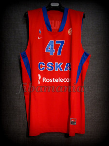 2012 Euroleague Best Defender & MVP CSKA Moscow Andrei Kirilenko Jersey - Front