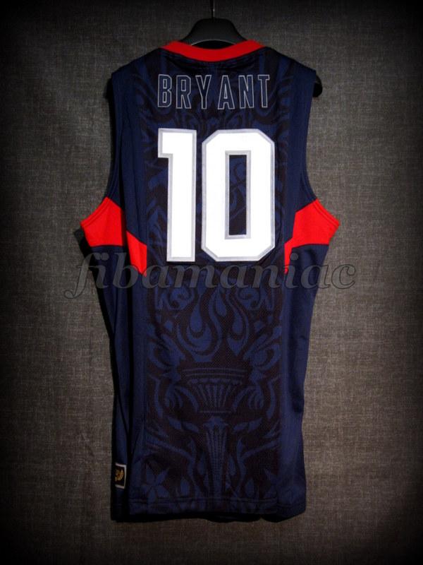 627b5eca5050 Beijing 2008 Olympic Games USA Basketball Kobe Bryant Jersey - Back