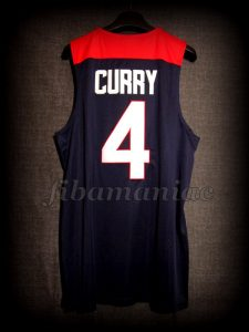 Spain 2014 World Cup USA Basketball Stephen Curry Jersey - Back