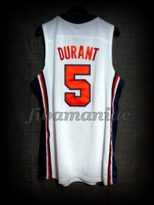Chuck Daly Tribute Barcelona 2012 Pre-Olympic USA Basketball Kevin Durant Retro Jersey - Back