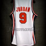 Barcelona 1992 Olympic Games USA Basketball Michael Jordan Dream Team Game Jersey - Back