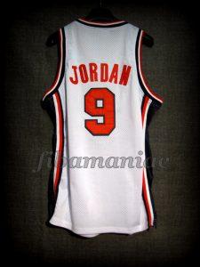 Barcelona 1992 Olympic Games USA Basketball Michael Jordan Dream Team Game Jersey - Back