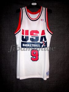 Barcelona 1992 Olympic Games USA Basketball Michael Jordan Dream Team Commercial Jersey - Front