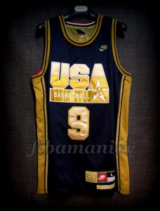 Barcelona 1992 Olympic Games USA Basketball Michael Jordan Dream Team Gold Limited Edition Jersey - Front