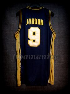 Barcelona 1992 Olympic Games USA Basketball Michael Jordan Dream Team Gold Limited Edition Jersey - Back
