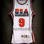 Barcelona 1992 Olympic Games USA Basketball Michael Jordan Dream Team Game Jersey - Front