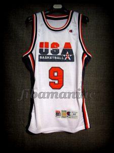 Barcelona 1992 Olympic Games USA Basketball Michael Jordan Dream Team Game Jersey - Front