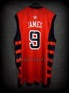 Athens 2004 Olympic Games USA Basketball Lebron James Jersey - Back