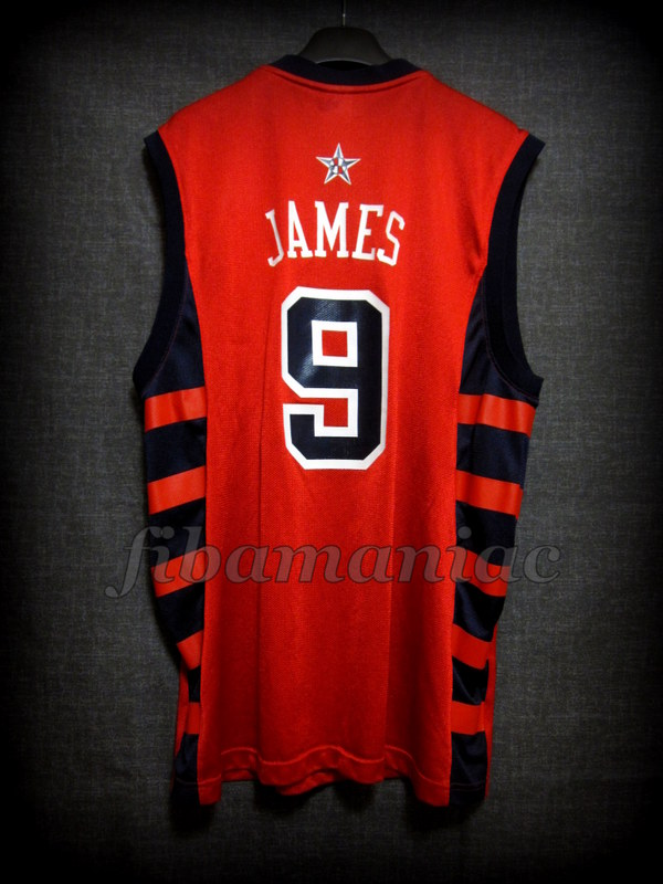 the best attitude f4e76 0cdc0 Athens 2004 Olympic Games USA Basketball Lebron James Jersey ...