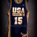 Barcelona 1992 Olympic Games USA Basketball Magic Johnson Dream Team Gold Limited Edition Jersey - Front
