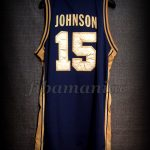 Barcelona 1992 Olympic Games USA Basketball Magic Johnson Dream Team Gold Limited Edition Jersey - Back