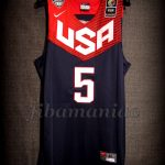 Spain 2014 World Cup USA Basketball Klay Thompson Jersey - Front