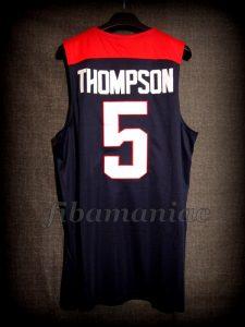 Spain 2014 World Cup USA Basketball Klay Thompson Jersey - Back