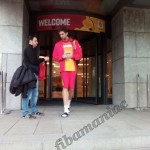 Pau Gasol. I'm not the person of the photo. I took the picture before the signing moment because I was alone.