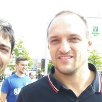Me and Igor in the 2015 Eurobasket