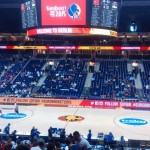 Our seats in the Turkey VS Serbia game