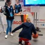 Dribbling contest inside the grandstands