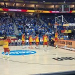 Last warm-up before the game