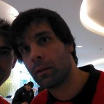 Selfie with Milos Teodosic after the jersey's signature