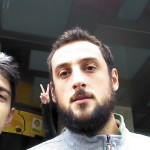 Selfie with Marco Belinelli after the jersey's signature