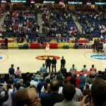 National anthems before the Italy VS Serbia
