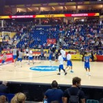 Italy halftime warm-up
