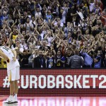 Nowitzki was interviewed after the game. This scene would mean his retirement of the national team. Sometimes you stay captured by the moment and I forgot take a picture. This was the moment. Also you will find a video in the youtube list. Thank you for all Dirk!