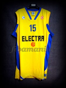 2008 Euroleague Final Four Maccabi Tel Aviv David Bluthenthal Jersey Front