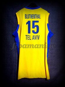 2008 Euroleague Final Four Maccabi Tel Aviv David Bluthenthal Jersey Back