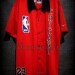 1986 Playoffs Chicago Bulls Michael Jordan Warm Up - Front