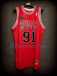 1998 NBA Finals Champions Chicago Bulls Dennis Rodman Jersey - Front