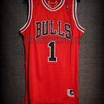 2011 NBA Season MVP (Youngest in history) Chicago Bulls Derrick Rose Jersey - Front
