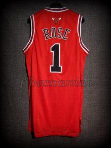 2011 NBA Season MVP Chicago Bulls Derrick Rose Jersey - Back