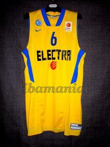 2012 ABA League Champions Maccabi Tel Aviv Devin Smith Jersey Front - MW
