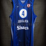 2001 Eurobasket Champions Dejan Bodiroga Jersey Front - Issued